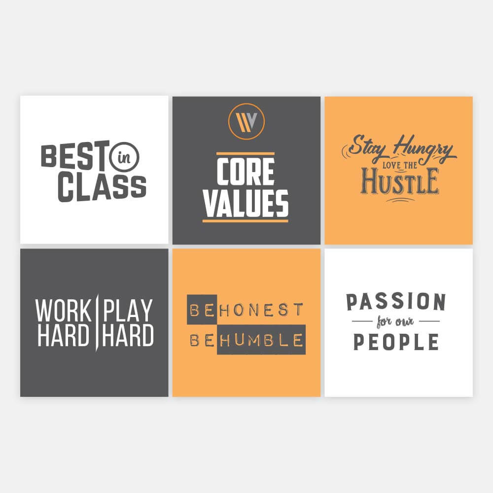 Core Values Sticker Sheet