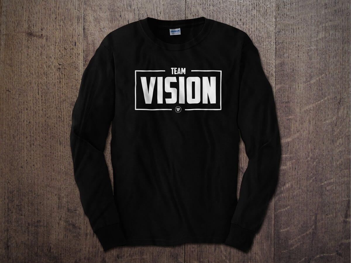 TEAM VISION BOX LONG SLEEVE T-SHIRT BLACK