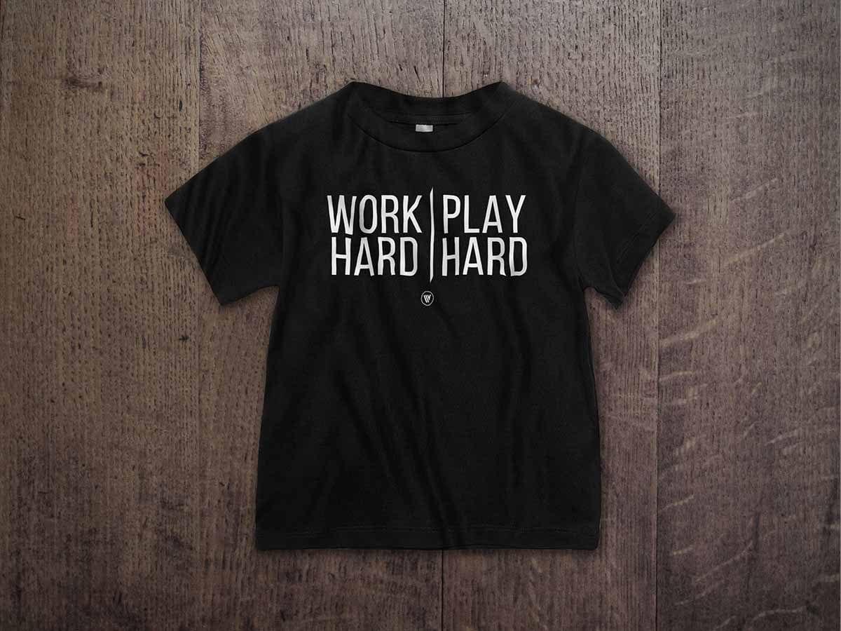 WORK HARD PLAY HARD TODDLER T-SHIRT