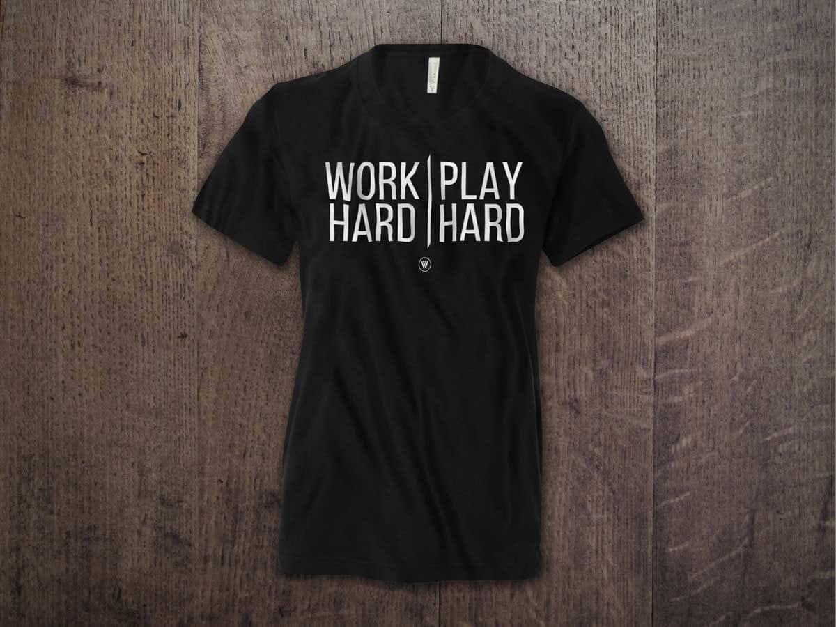 WORK HARD PLAY HARD YOUTH T-SHIRT