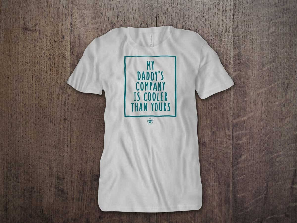 MY DADDY'S COMPANY IS COOLER THAN YOURS YOUTH T-SHIRT