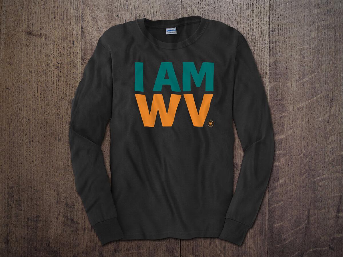 I AM WV Long Sleeve Charcoal