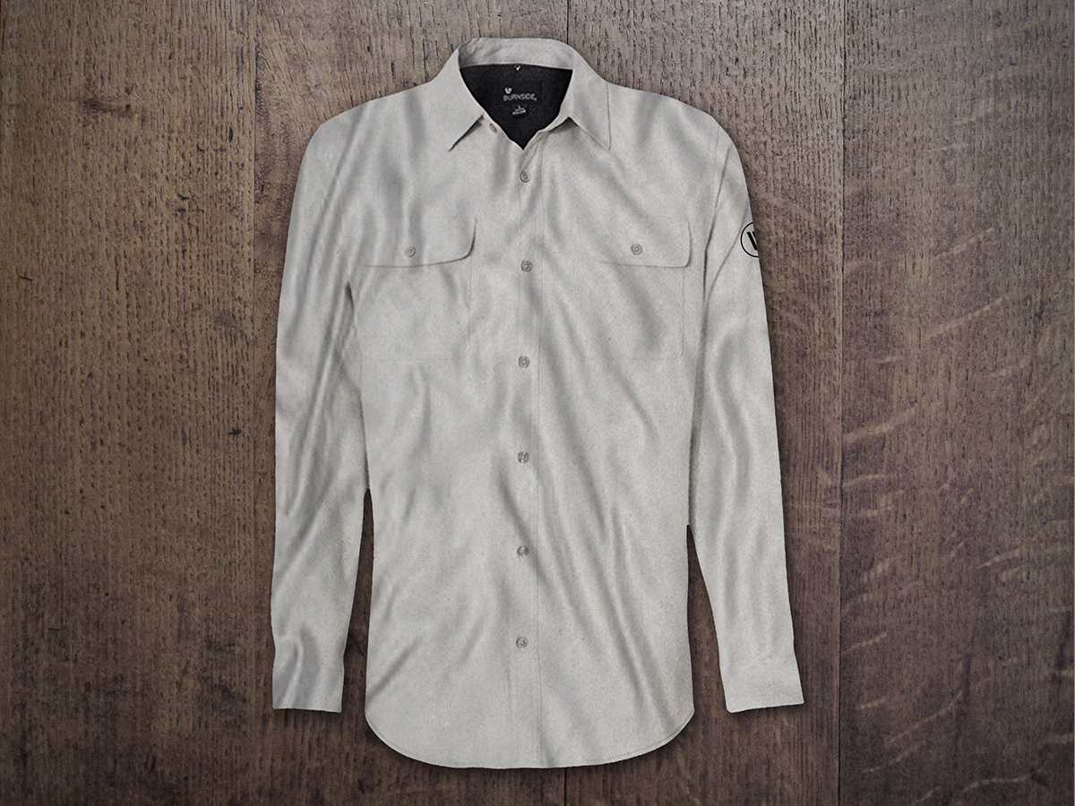 MEN'S WIRELESS VISION SOLID FLANNEL SHIRT Stone
